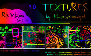 Textures - Rainbow Set 2 by lilbrokenangel