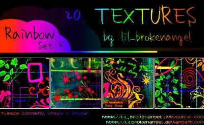 http://fc05.deviantart.net/fs12/i/2006/306/e/d/100x100_RAINBOW_textures_SET_2_by_lilbrokenangel.jpg