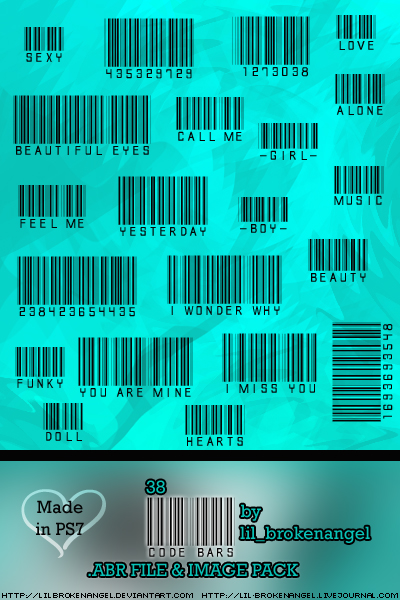 Brushes - Bar Codes