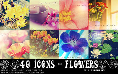 Icons - Flowers Set 1 by lilbrokenangel