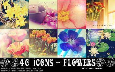 Icons - Flowers Set 1