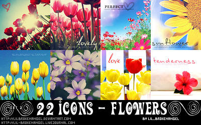 Icons - Flowers Set 2 by lilbrokenangel
