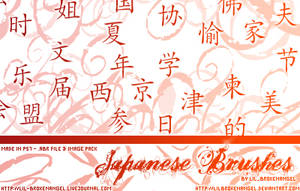 Brushes - Japanese by lilbrokenangel