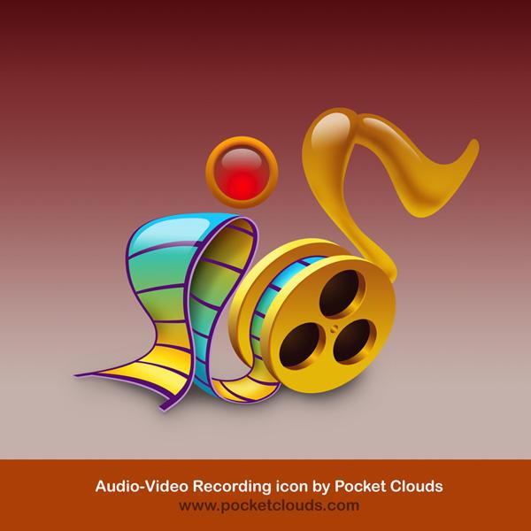 Audio-Video Rec. icon by nube