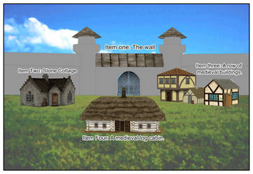 Medieval Buildings collection for Comipo. by Lady-Aurora-Moon