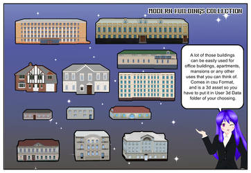 Modern Buildings for Comipo by Lady-Aurora-Moon