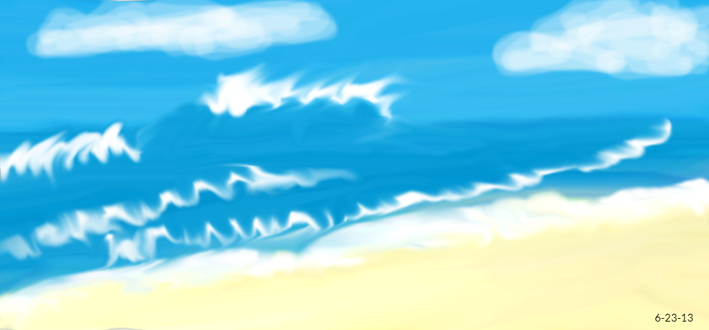 Beach Waves Drawing