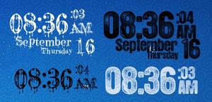 Grunge Clock v1.5 by EchoingDroplet
