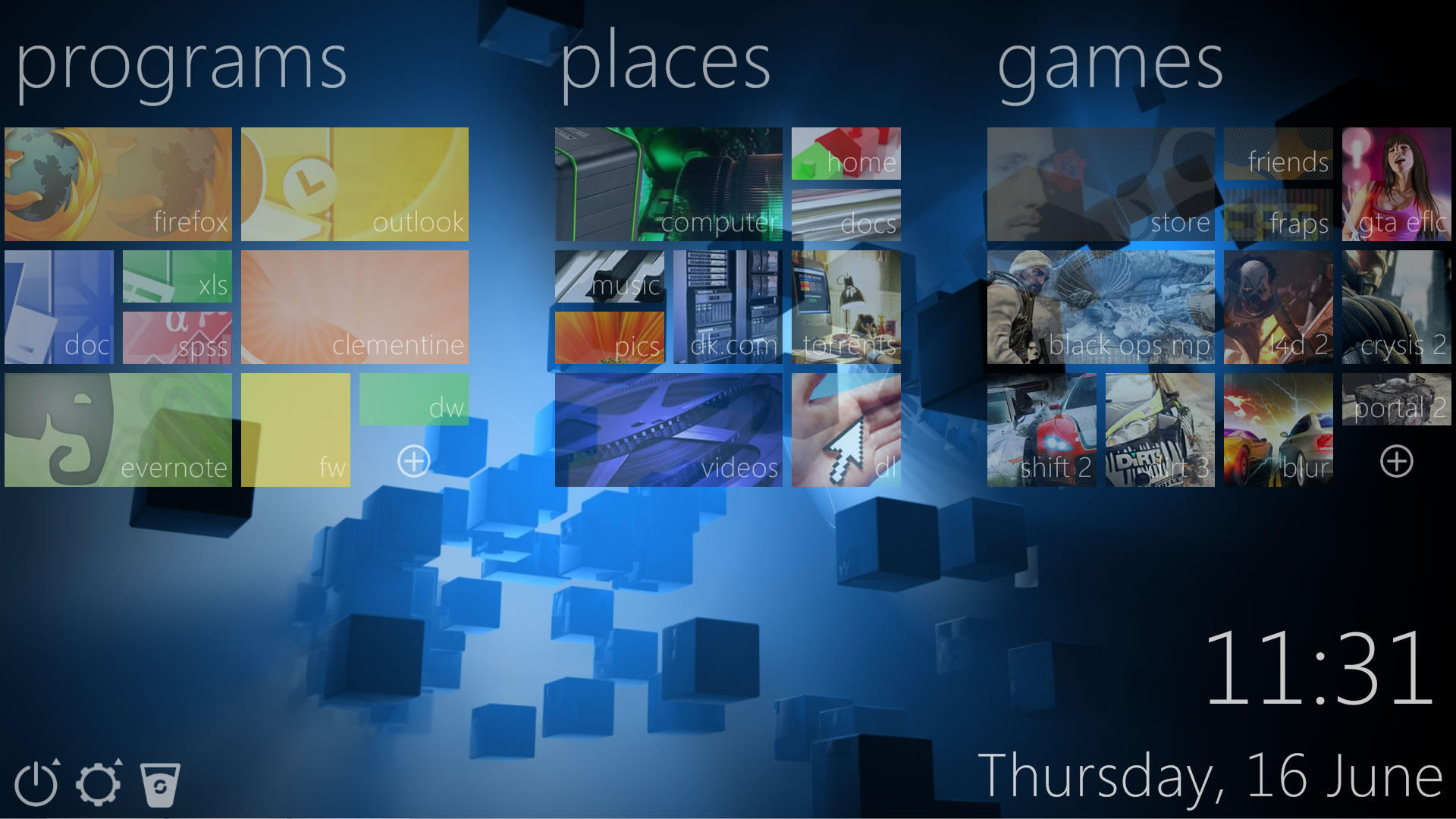 DK Tiles for Rainmeter by TheMooDude