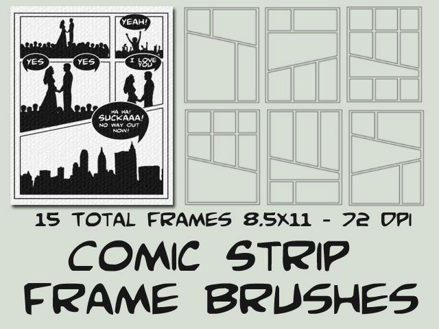 Comic Strip Starter Frames by psologist