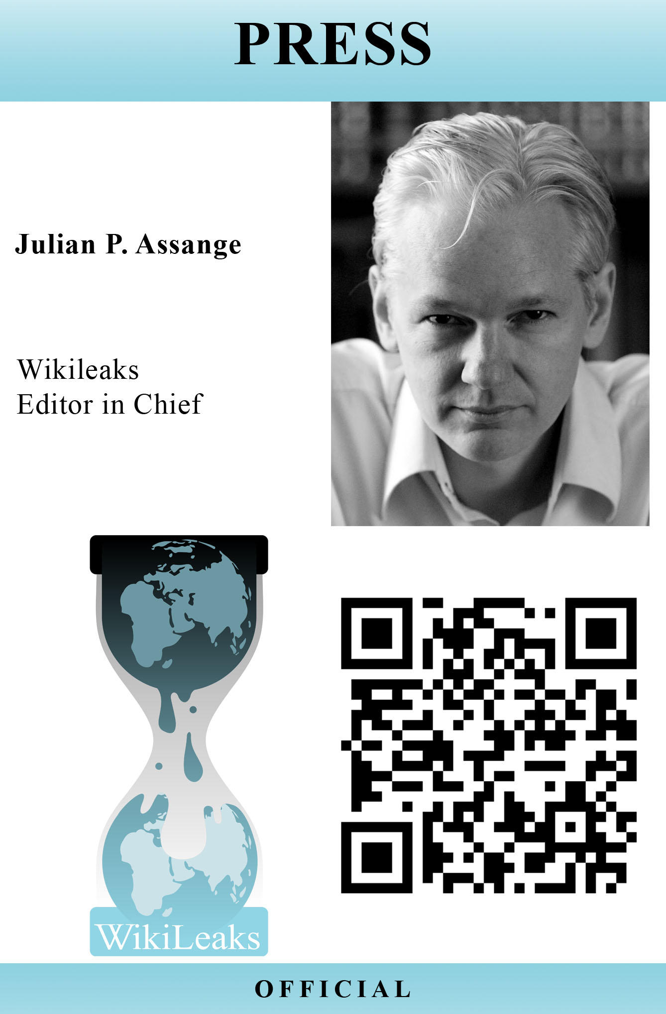 WikiLeaks Press Pass Template by Juliets-Designs