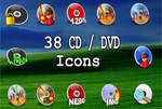 38 new CD DVD Icons