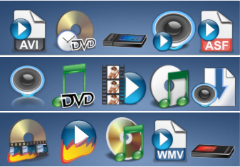 61 Audio video related icons by zman3