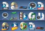 61 Audio video related icons