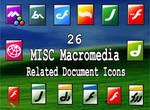 26 macromedia docs icons