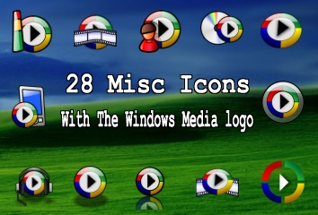 28 icons with wmp logo