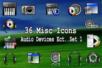 36 media device ect icons