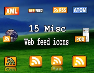15 misc web feed icons