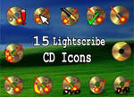 15 lightscribe cd icons