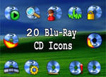 20 blu-ray cd icons