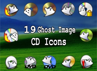 19 ghost image cd dvd icons