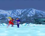 Psylocke beatdown from Omega Red (MVC2 sprites)
