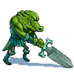 Gatorman Fighter by Hyptosis