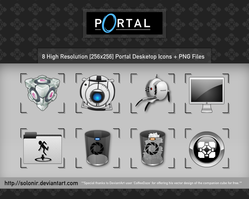 Portal Desktop Icons by Solonir