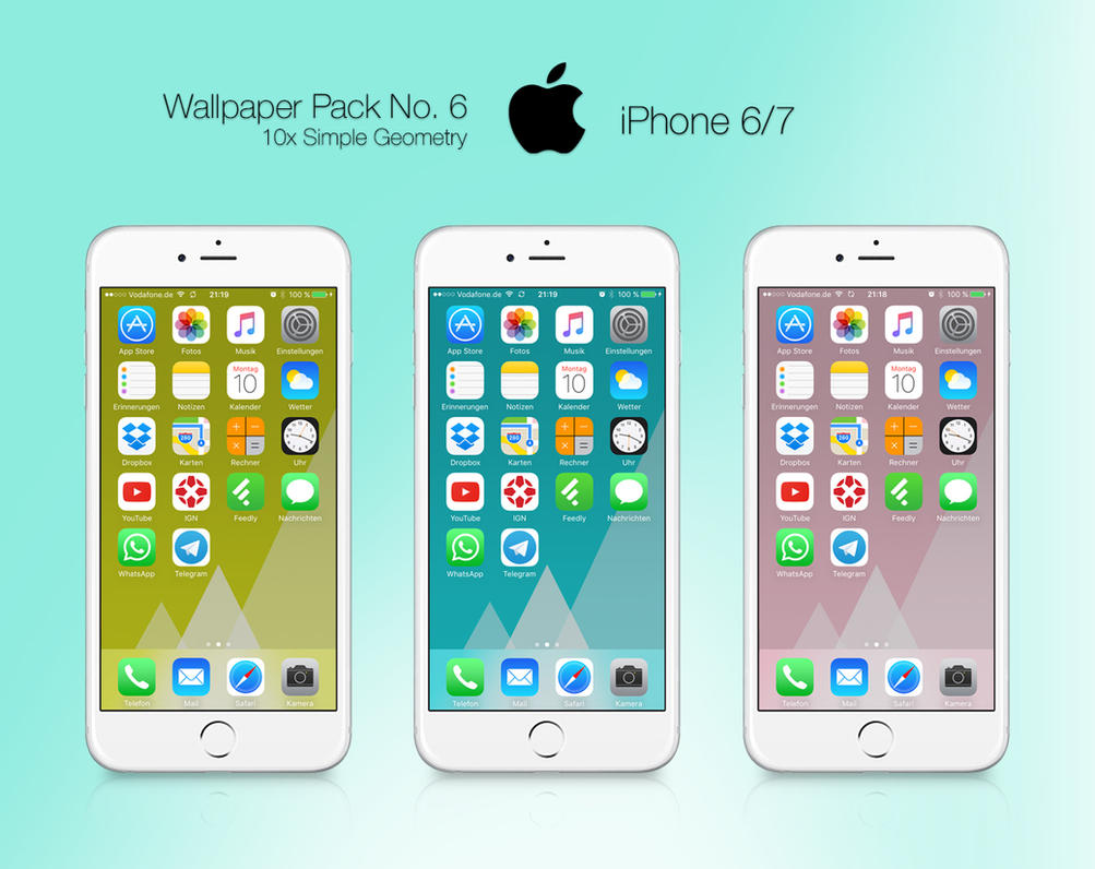Retina HD Wallpaper Pack No. 6 - iPhone 6 and 7 by pddeluxe