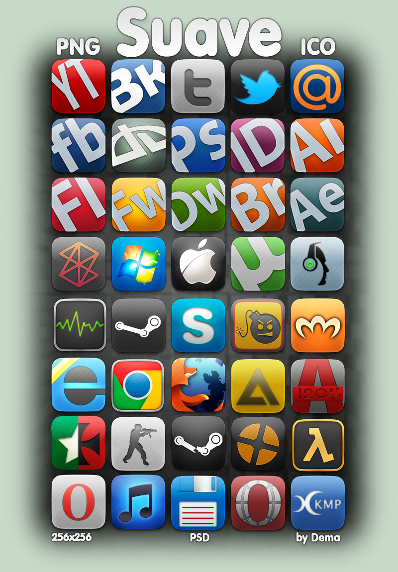 Suave icons by Dema