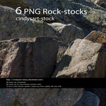 6 PNG rocks by cindysart-stock