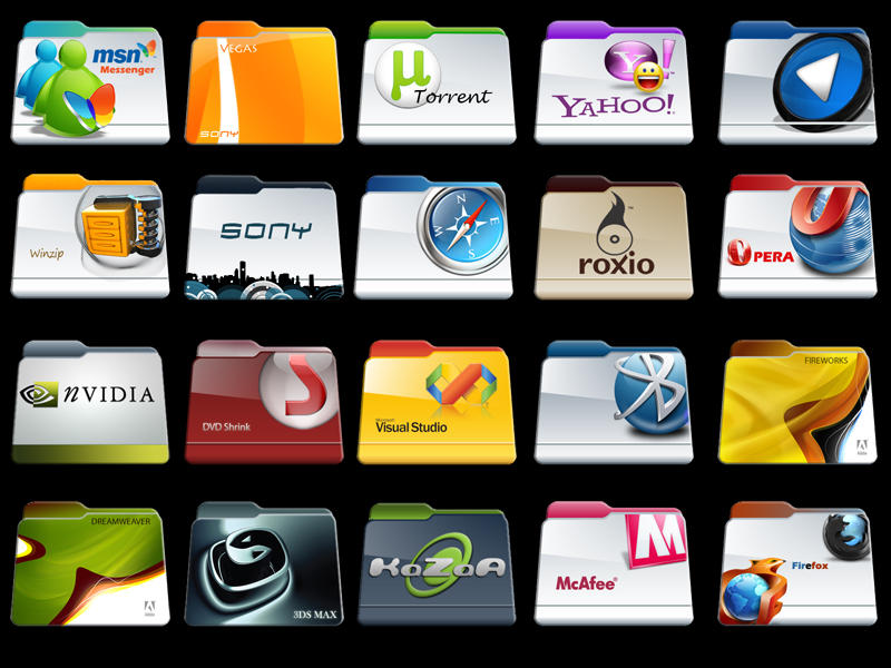 Program Files Folders Icon Pac by stunner2
