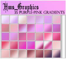 35 Purple-Pink Gradients by graphicdump