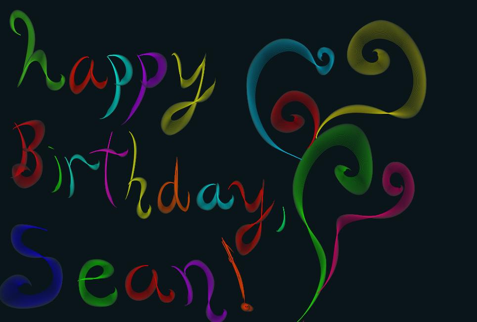 Happy Birthday Sean By Diamond Arrow On Deviantart