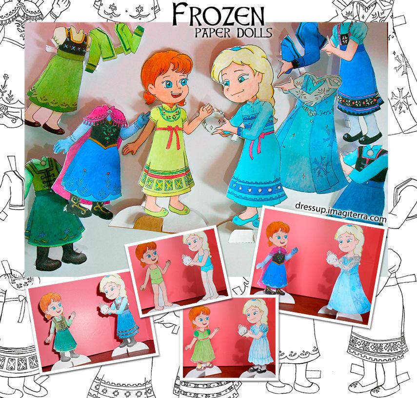 Paper Dolls Printable Printable Frozen Paper Dolls