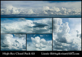 High-Res Cloud Pack 03 by Lizzie-Bitty