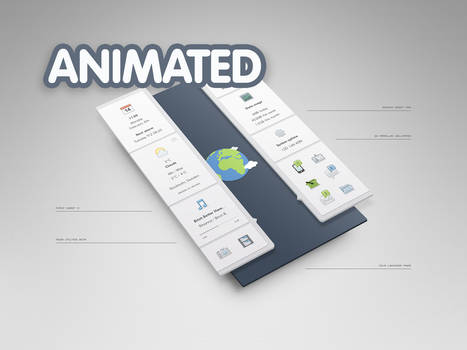 Double Sidebars Animated
