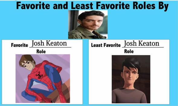 My Favorite and Least Favorite Josh Keaton roles