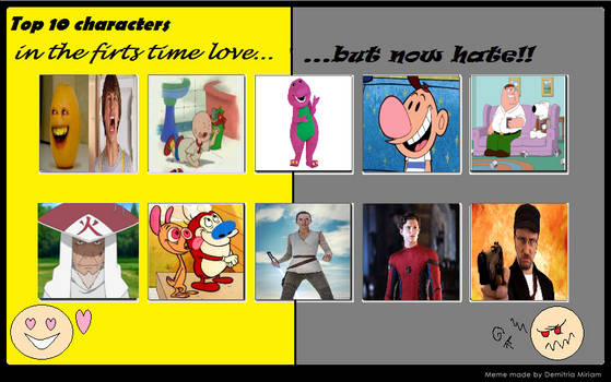 10 Characters I used to love but now hate (UPDATE)