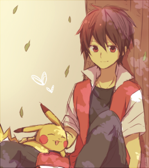 Pokemon Red And Blue Kiss