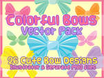 Vector Pack - Colorful Bows