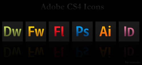 Adobe CS4 Black Icons
