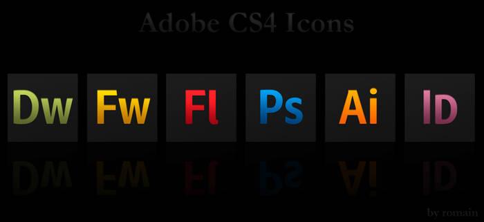 Adobe CS4 Black Icons