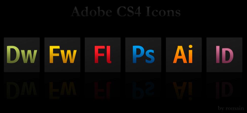 Adobe CS4 Black Icons by 0oRomaino0