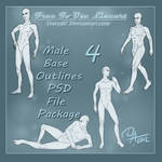 FREE Lineart - Male Base Pack 1
