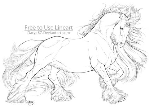 Free To Use Lineart Gypsy Vanner 2017