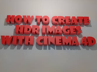 How To create HDR ( Radiance files ) with CINEMD4D by ouidart