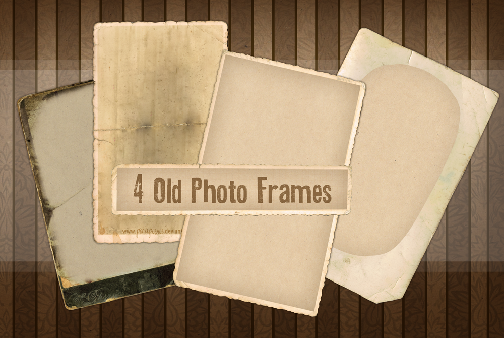 4 Old Photo Frames by momochili on DeviantArt