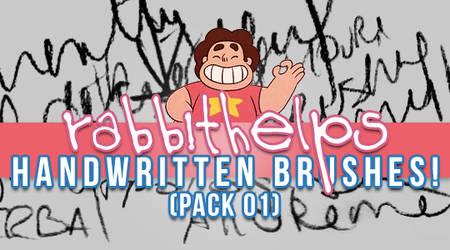 rabbithelps handwritten brushes! pack 01
