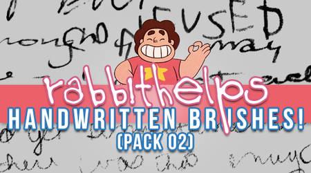 rabbithelps handwritten brushes! pack 02